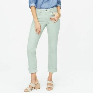 NYDJ Women's Marilyn Straight Cuffed Ankle Jeans